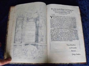 Ovid facsimile dedication page.