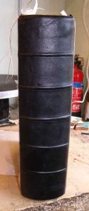 Once this stage of the repair is completed, the new spine looks like this.