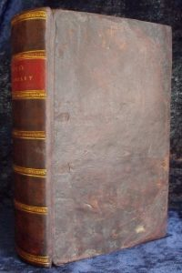 Boyer's Dictionary front cover after restoration.