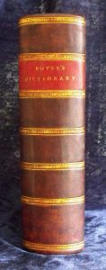 Boyer's Dictionary new spine.