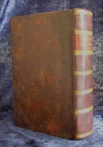 Boyer's Dictionary back cover after restoration.