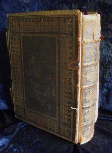 Family Bible before repair.