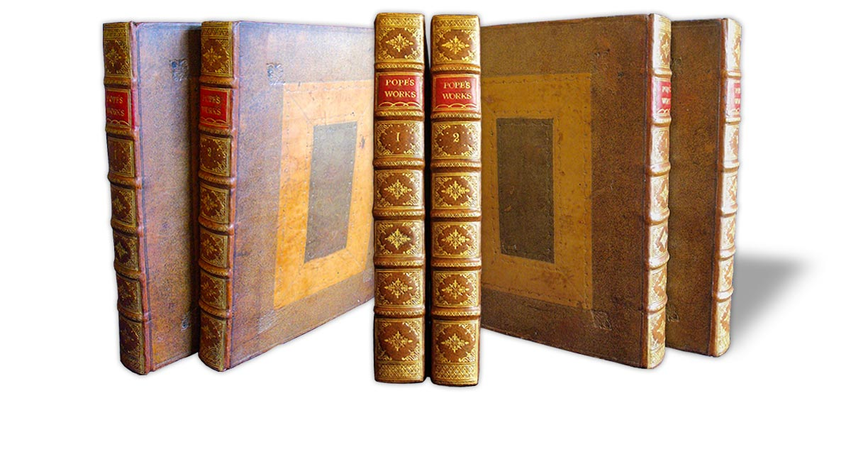 The books were rebacked and the spine decoration replicated in the style of the original.