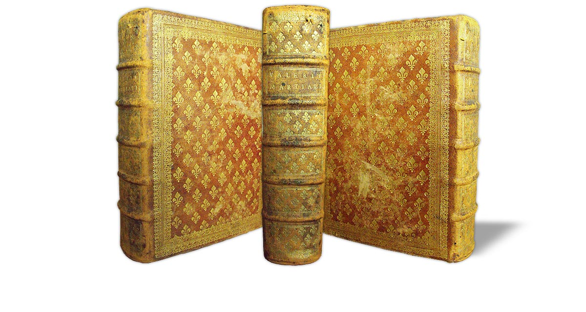 The binding of this 17th century volume was quite worn and rubbed