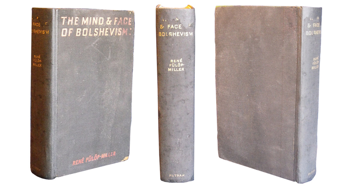 The same book after being rebacked. The remains of the spine were mounted onto the new spine and the binding was re-coloured after the mould was removed.