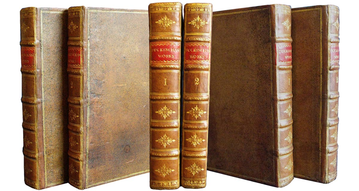 This two-volume set was rebacked and the spines tooled to match the original spine design. Book restoration
