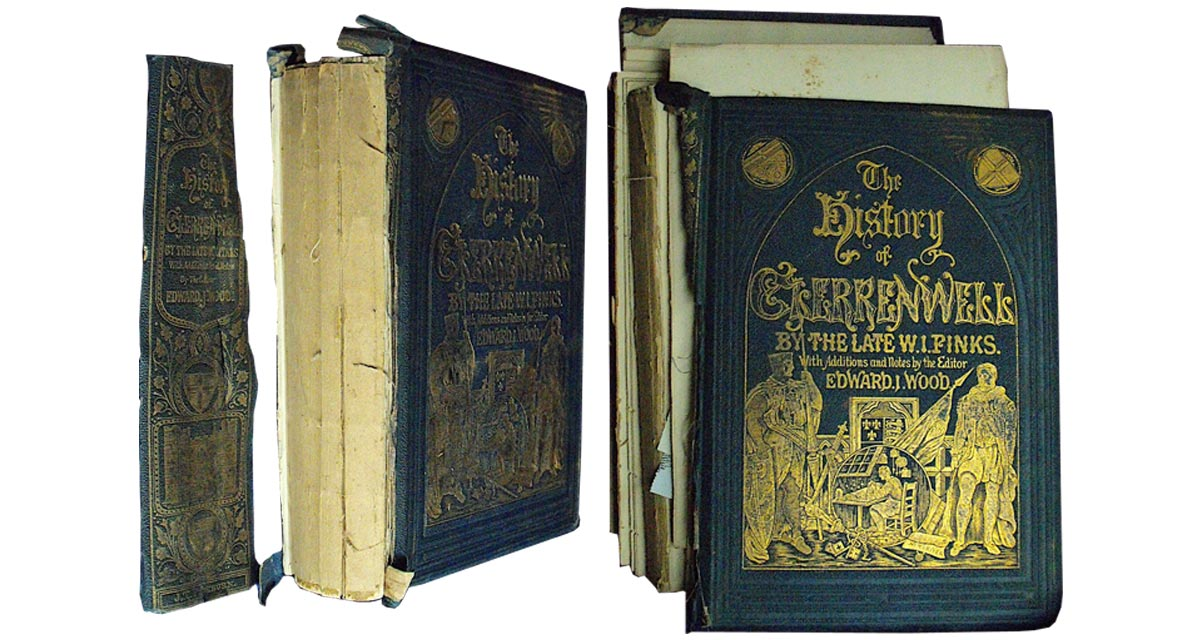 This book was disbound with both covers as well as the spine detached.