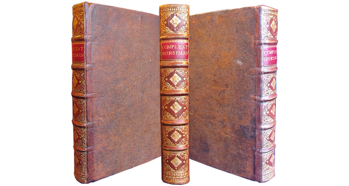 18th century volume rebacked with the spine decoration copied from the remains of the original spine. Spine reback