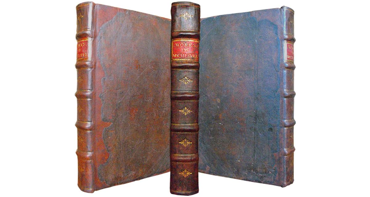 The works of Machiavelli after full restoration. Book repair