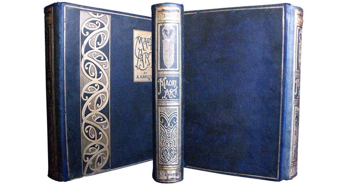 The same volume after the spine was restored and the binding was re-coloured and refurbished. Spine reback