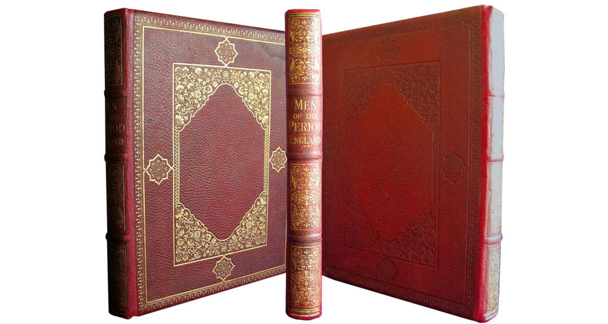 The same book after the spine was restored and the leather covering was re-coloured